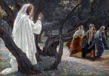 Zdjęcie Jezusa Zmartwychwstałego wśród kobiet